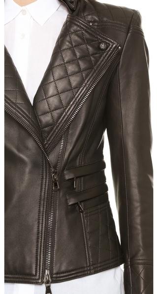 Balmain Pierre Leather Moto Jacket