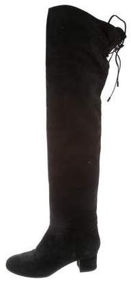 Calvin Klein Collection Nubuck Over-The-Knee Boots