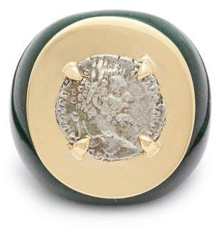 Dubini - Emperor 18kt Gold & Aventurine Ring - Womens - Green