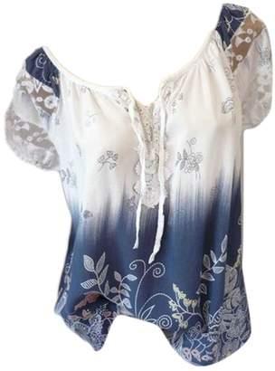 8448d81778c Spirio Women s Stylish Floral Plus Size Tunic Lace Patchwork Blouse Shirt  Tops XL