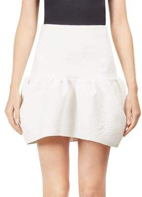 Chloé Coated Quilted Jacquard Bubble Miniskirt