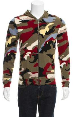 Valentino Cashmere Camouflage Hoodie w/ Tags