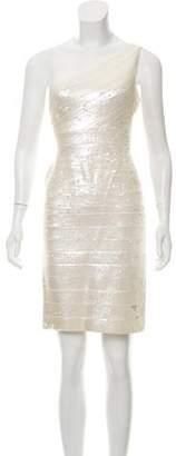 Herve Leger Pauline Embellished Dress