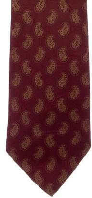 Givenchy Paisley Print Silk Tie