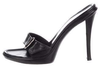 Casadei Leather Slide Sandals