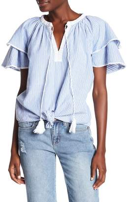 Seven7 Striped Tied Front Tee