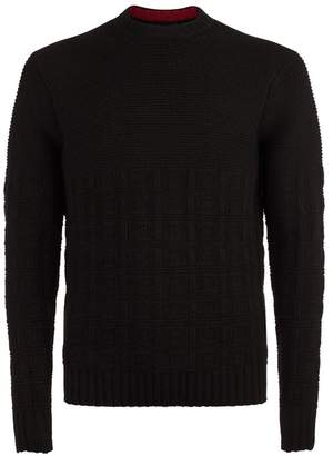 Emporio Armani Chunky Grid Sweater