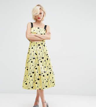 Co Horrockses Inky Spot Ord Full Midi Skirt