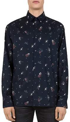 The Kooples Douglass Flowers Slim Fit Button-Down Shirt