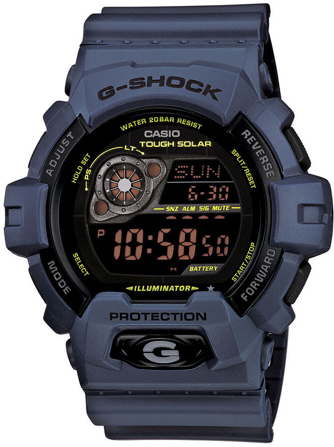 G-Shock Men's Digital Navy Blue Resin Strap Watch 55x53mm GR8900NV-2