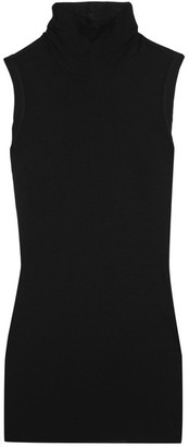Rick Owens - Jersey Turtleneck Top - Black $325 thestylecure.com