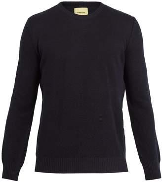 DE BONNE FACTURE Crew-neck knitted linen-blend sweater