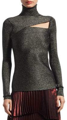 A.L.C. Camden Metallic Cutout Sweater