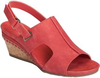 Aerosoles Heel Rest Wedge Sandals - Shortcake