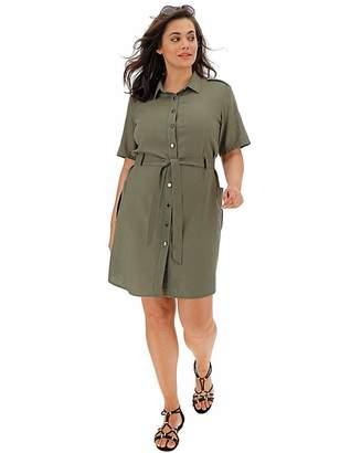 804752efeae Anthology Khaki Linen Safari Shirt Dress