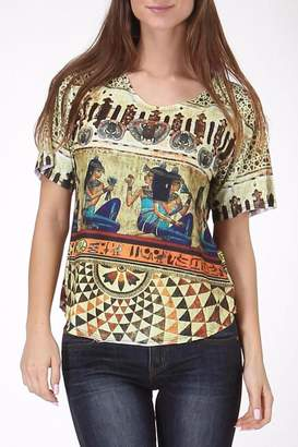 See You Monday Egypt Mix Print Top