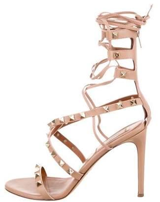 bec1c1ce8def Valentino Rockstud Sandals - ShopStyle