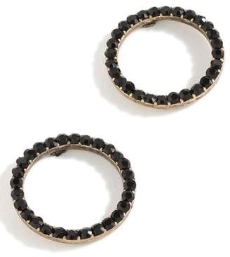 J.Crew Pave Circle Earrings