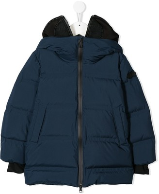 AI Riders On The Storm padded hooded coat