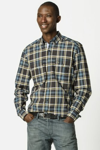 Lacoste Long Sleeve Button Down Slim Plaid Shirt