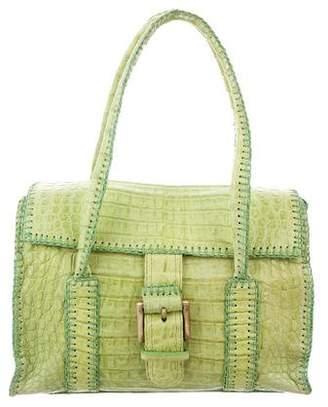 Carlos Falchi Fatto a Mano by Crocodile Handle Bag