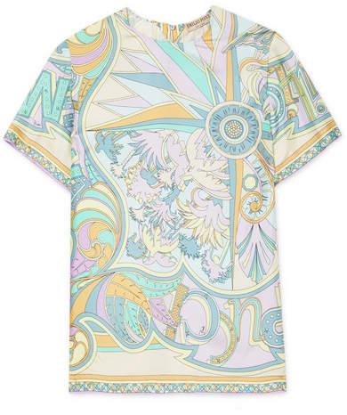Emilio Pucci - Miami Printed Silk Top - Lilac