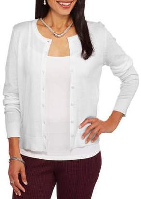 Faded Glory Women's Everyday Crew Neck Cardigan
