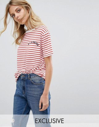 Whistles Exclusive A La Mode Striped T- Shirt $68 thestylecure.com