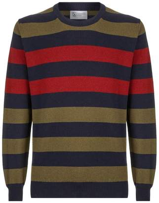 Johnstons of Elgin Striped Cashmere Sweater