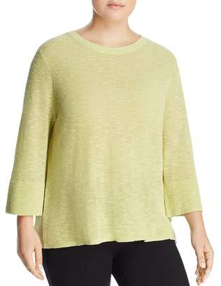 Eileen Fisher Plus Three-Quarter Sleeve Sweater