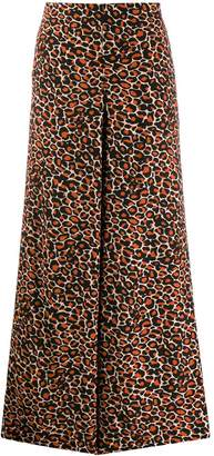 Bellerose leopard cropped palazzo trousers