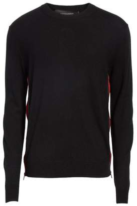 DSQUARED2 Wool Sweater with Side Zip Ribbon