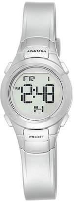 Armitron Womens Silver-Tone Chronograph Digital Sport Watch
