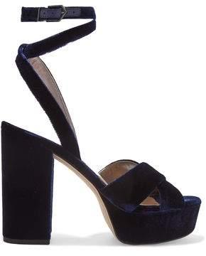 Sam Edelman Velvet Platform Sandals