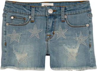 Hudson Girls' Celestina Distressed Studded Star Shorts, Size 4-6X