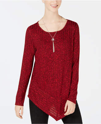 BCX Juniors' Angled Necklace Top