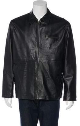 Barneys New York Barney's New York Leather Zip-Up Jacket