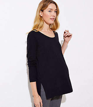 LOFT Maternity Long Sleeve Tunic Tee