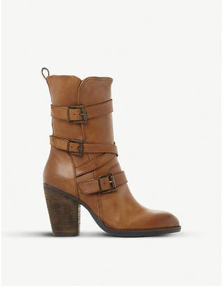 Steve Madden Wen SM leather buckle boots