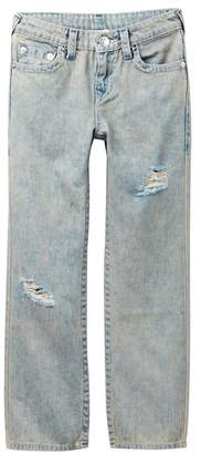 True Religion Straight Single End Jeans (Big Boys)
