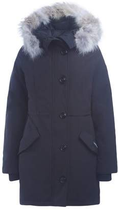 Canada Goose Rossclair Black Parka With Hood