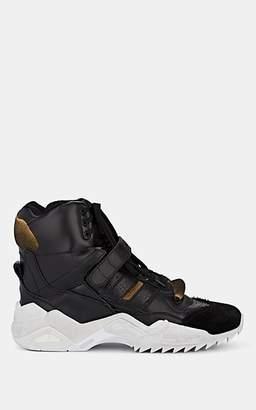 Maison Margiela Men's Oversized-Sole Leather Sneakers - Black