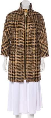 Les Copains Virgin Wool Blend Short Coat