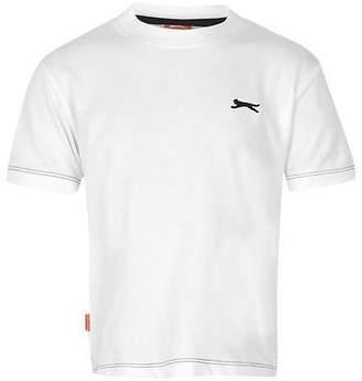 Slazenger Kids Plain T Shirt Tee Top Short Sleeve Casual Crew Neck Infant Boys