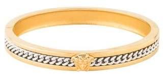 Versace Two-Tone Medusa Hinged Bracelet