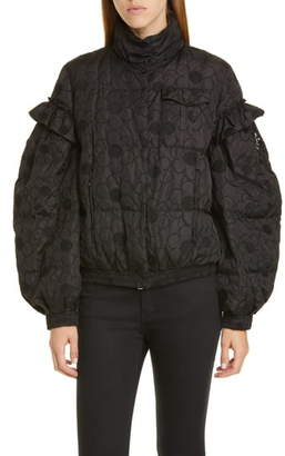 Simone Rocha Moncler Genius x 4 Floral Embroidered Puffer Jacket