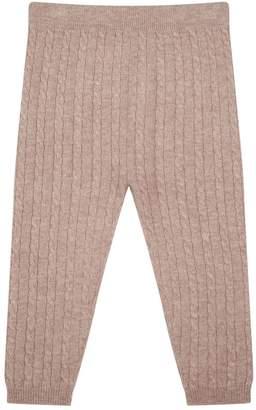 Harrods Cable Knit Cashmere Leggings