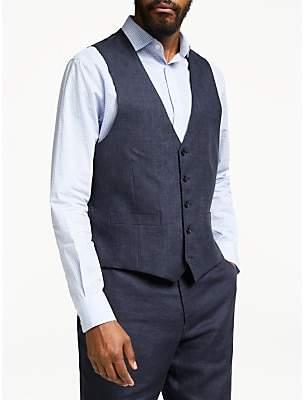 d6e5e80d8b785 John Lewis & Partners Linen Regular Fit Waistcoat, ...
