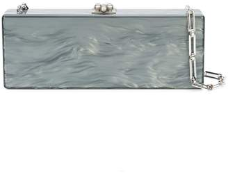 Edie Parker Flavia pearl effect clutch bag