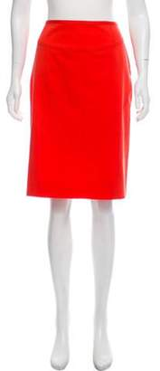 Valentino Knee-Length Pencil Skirt Orange Knee-Length Pencil Skirt